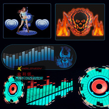 Car styling 90*25 40*30 50*30 Automobile LED EL Sheet Car Music Sticker Equalizer Glow Flash Panel Light Flashing