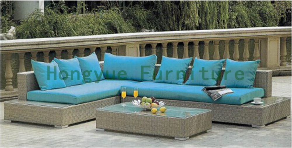 New wicker outdoor sofa set with cushions,outdoor sofa