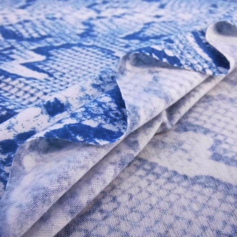 2018 piel de serpiente raya impreso moda ropa de lana para coser ...
