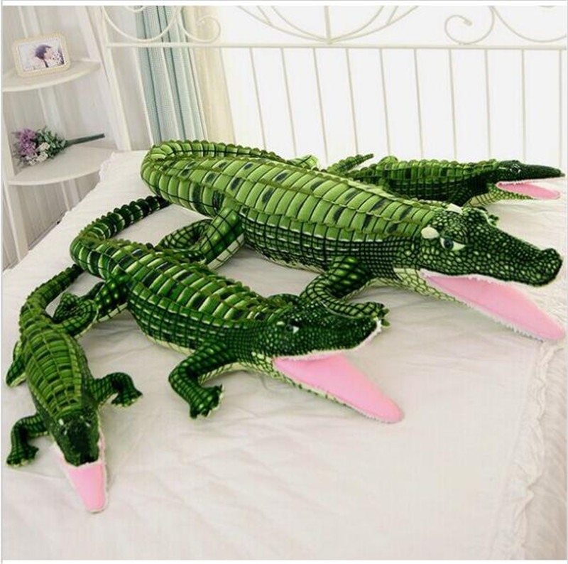 100 cm-200 cm New Arrival Big Size Simulation Crocodile Plush Toys Stuffed Animals Doll Kids Toy Cushion Pillow Toys Gifts stuffed animals pony zebra doll plush simulation horse toy children gifts toys home decoration