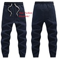 Men Navy Blue Joggers New 2017 Male Jogger Pants Casual Sweatpants Drawstring Elastic Waist Free Shipping