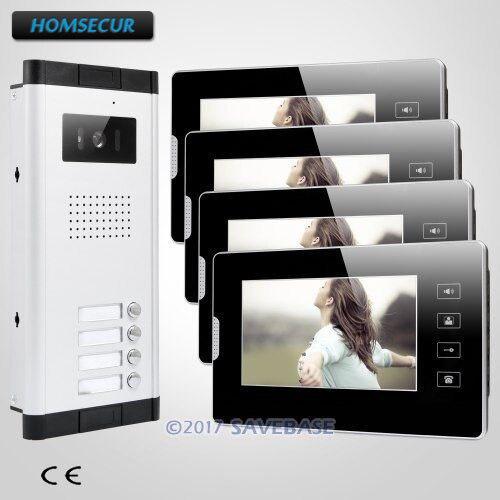 HOMSECUR 7 Hands free видео домофон Системы Поддержка Электрический замок для дома/без каблука
