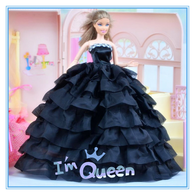 New Design Doll Dresses Fashion Colors Style Handmade Gown Dress