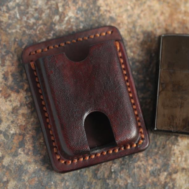 2019 Top Vintage leather cigarette packs Disposable lighter bag Flip wallet cigar case box cigarette cover match 90% lighter