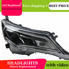 AUTO.PRO For 2013-2015 toyota RAV4 xenon headlights car styling bi xenon lens toyota RAV4 LED DRL head lamps xenon H7 light цена в Москве и Питере