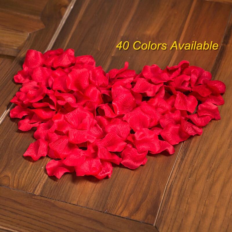 100 шт. многоцветный лепесток розы 5 см искусственной имитации нетканого роза цветы Свадебная вечеринка Украшение стола декоративные матери...