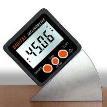 เครื่องวัดมุมInclinometerระดับกล่องเครื่องมือวัดระดับอิเล็กทรอนิกส์ANGLE MeterมุมFinderมุมวัดฐานแม่เหล็ก