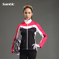 Santic Women S Cycling Fleece Thermal Long Jersey Winter Jacket Cycling Jersey Ciclismo Outdoor Sports Clothing