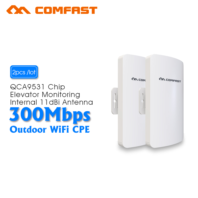 2pc Outdoor WIFI Router CPE Wifi Repeater Wifi Extender 2KM Distance 300Mbps Access Point AP Router 2.4Gh WIFI Bridge Waterproof