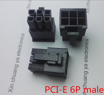 5557 4 2mm czarny 6P 6PIN męski dla komputer stancjonarny ATX karta graficzna GPU PCI-E PCIe złącze zasilania plastikowa powłoka obudowa tanie i dobre opinie