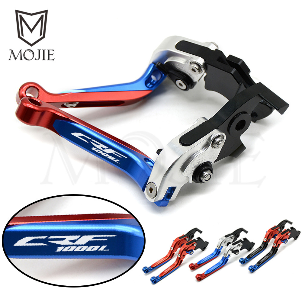 For Honda CRF1000L Africa Twin 2015-2018 2016 2017 CRF 1000L Levers Motorcycle Adjustable Folding Extendable Brake Clutch Levers for honda crf1000l africa twin 2015 2018 foldable extendable clutch brake levers folding extending cnc 2016 2017 adjustable