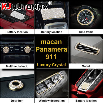KJAUTOMAX For Porsche Crystal Decoration Car Styling Steering Wheel Clock Ring For Porsche Battery position image