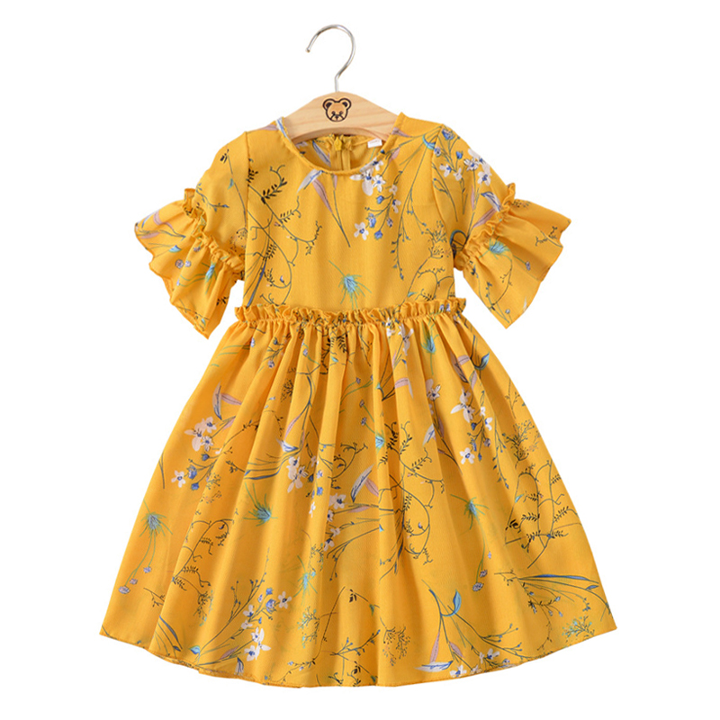 little girls floral printed dress teenage girls clothing dresses summer 2018 baby girls print dress size 3 4 5 6 7 8 9 10 years elegant little girls dresses summer 2018 big girl dress teenage clothing kids dresses size for 3 4 5 6 7 8 9 10 11 12 years
