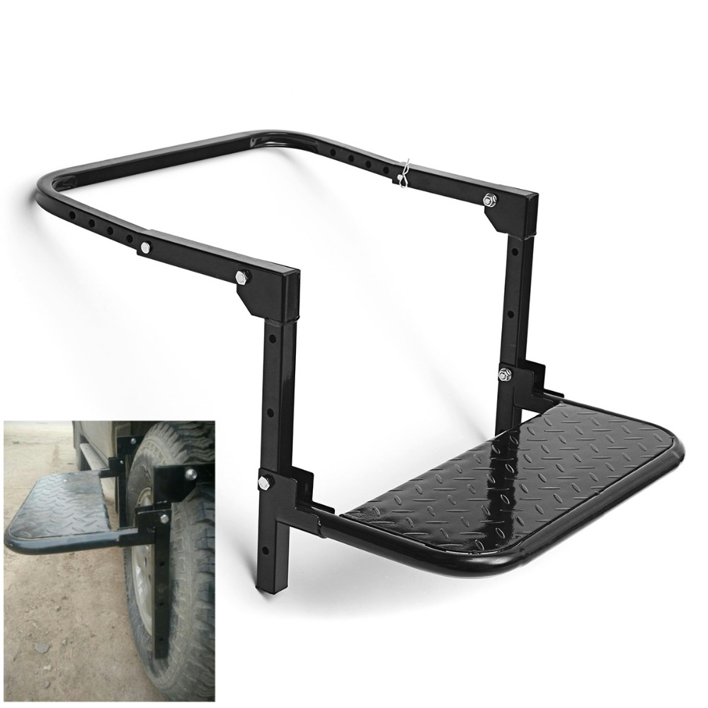 Wheel Step Folding Car Stairs Tyre Mount Auto Steps Ladder For Vehicle MPV SUV Roof Racks Bike Luggage Tires For Cars