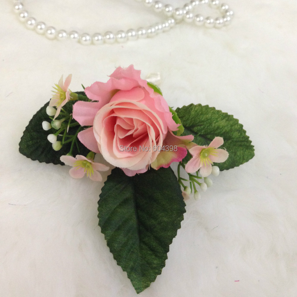 Can Be Customized Pink And Green Wedding Flower Bouquet Rose And