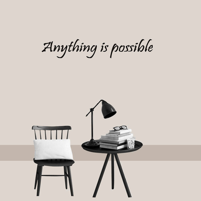 DCTOP Anything Is Possible Inspirational Wall Decals Sayings Positive  Quotes Sayings Sticker Wall Art Home Decor