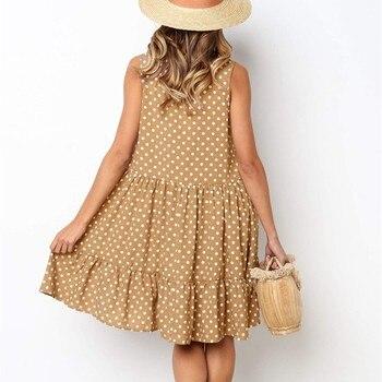Wave Point Dress Ruffle Women Spring Summer 2
