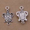 Yage 15*28mm 25pcs Tibetan Silver Sea Turtle Connector,Vintage Bracelet Charms Pendant For Jewelry Making XBL385