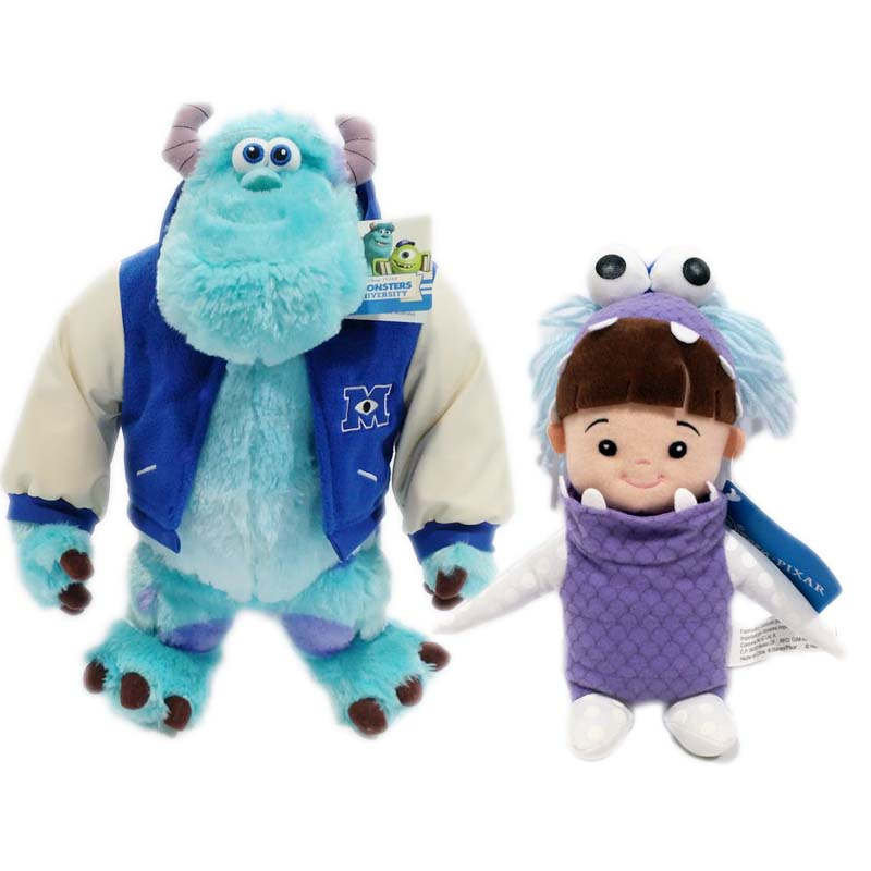 Monsters Inc 43cm Sulley Sullivan+25cm Babblin Boo Plush Toy Monsters University Soft Stuffed Doll for Kids Gift цена и фото