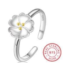 Женское кольцо с цветком сакуры регулируемое ювелирное изделие