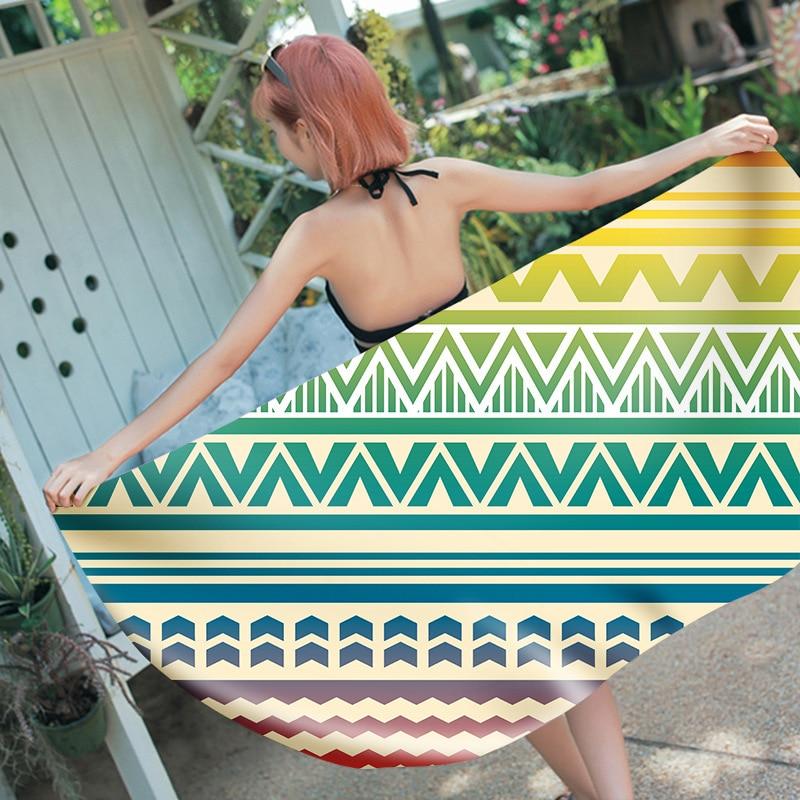 Lady Girls Wearable Fast Drying Magic Bath Hand Towel Large Beach Spa Bathrobes Serviette De Plage Towels Bathroom Mandala