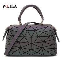 sac bao bolsa feminina Handbags for girls women Laser sequins Luminous geometric bag over shoulder crossbody bags for women 2019
