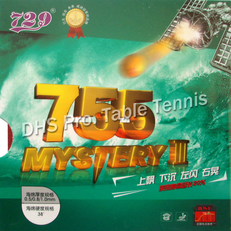 RITC 729 Friendship 755 Mystery III  Long Pips-out Table Tennis Pingpong Rubber With Sponge