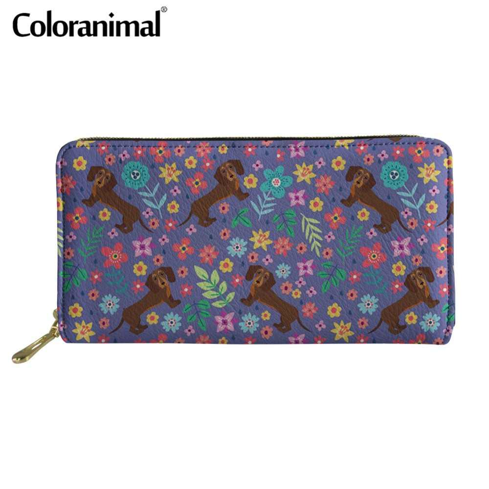 7e27822dfbb6 Coloranimal Airedale Terrier Flower Wallets 3D Puppies Dog Print ...