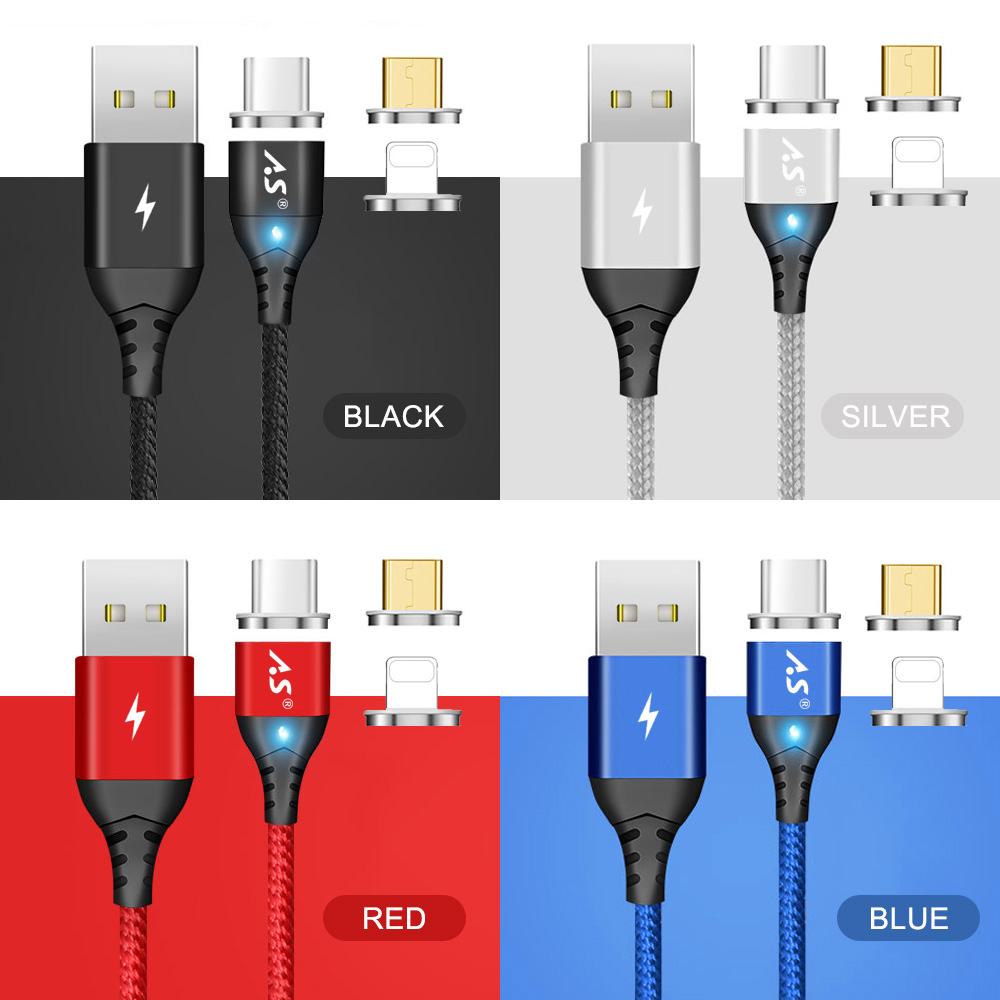A.S Magnetic Cable Micro USB Type C Super Fast Charging Phone Microusb Type-C Magnet Charger usb c For iphone huawei xiaomi Data 13