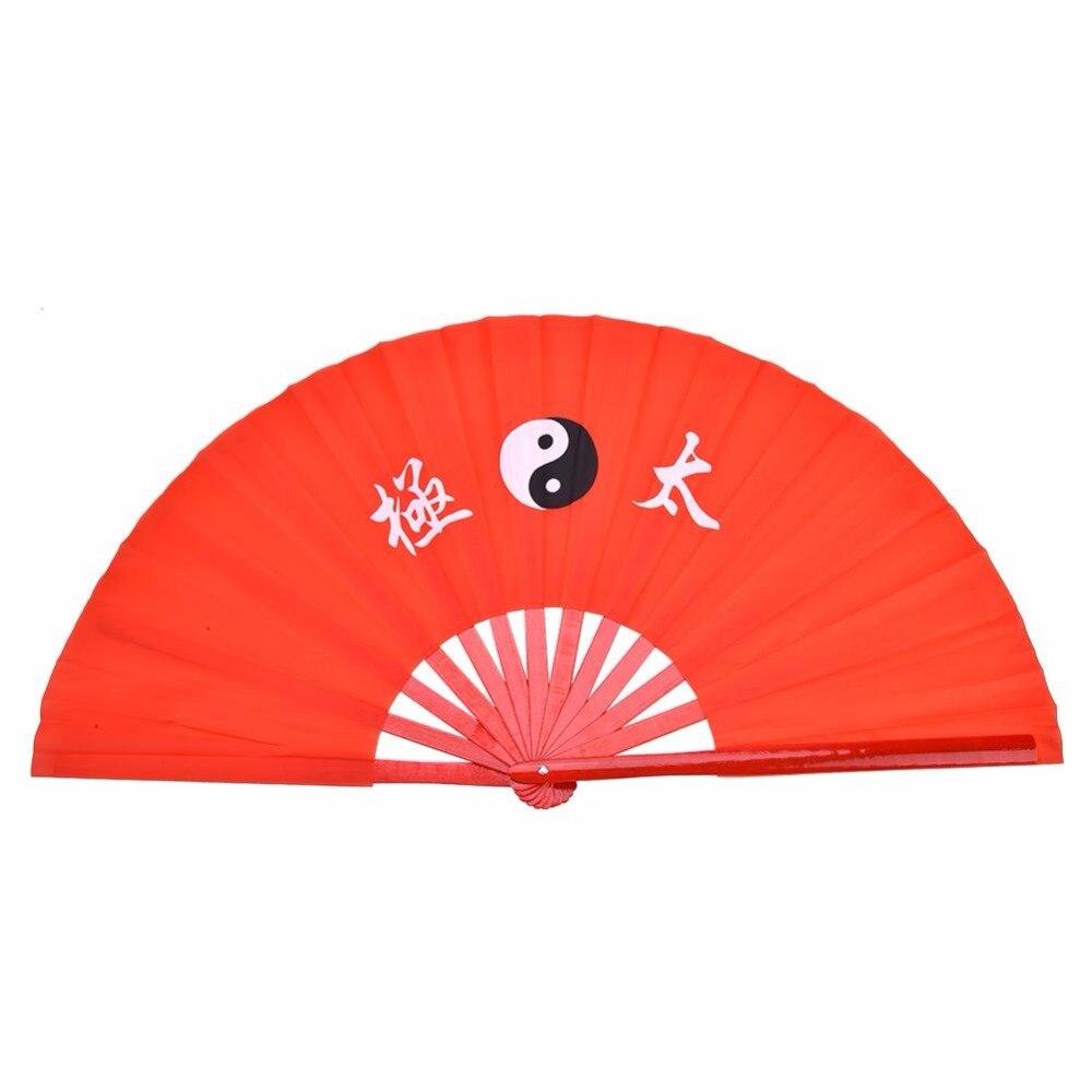 2ed4d1858 39 cm Tradizionale Cinese fan Di Bambù Tai Chi Fan di Arti Marziali Kung Fu  di Bambù Prestazioni Formazione Pratica Danza Fan ~ Top Deal July 2019