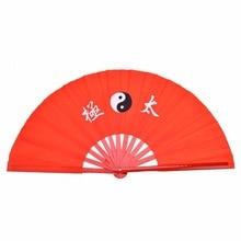 39 см в традиционном китайском стиле бамбука Тай чи вентилятор боевых искусств кунг-фу из бамбука для занятий танцами, обучение Производительность вентилятор