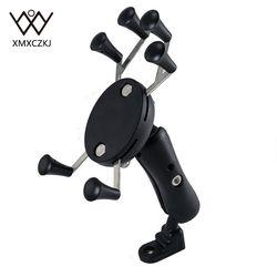 Motocykl motor rower mtb lusterko kierownicy widok z tyłu uniwersalny x-grip stojak na telefon komórkowy dla iphone 6 6S