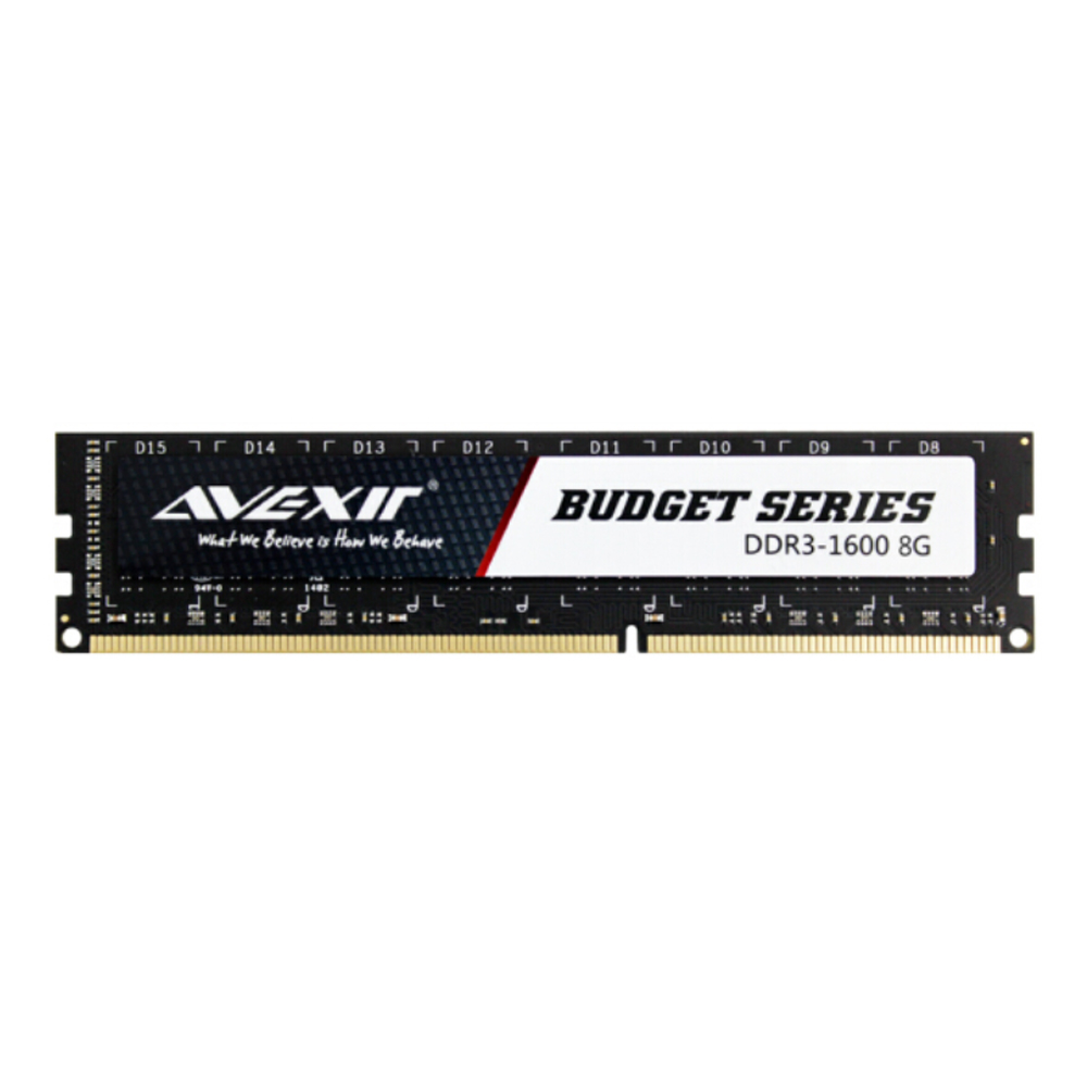 AVEXIR RAM DDR3 4GB / DDR3 8GB Memory Frequency 1600MHz 1.5V Desktop memory Interface Type 240pin 11-11-11-28 CL=11 Single RAMs 3