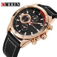 Hot Sell CURREN Business Watch Men Leather Wristwatches Quartz Wrist Watches For Men S Clock Reloj