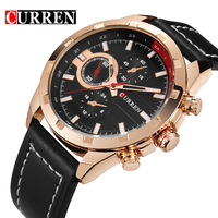Hot Sell CURREN Business Watch Men Leather Wristwatches Quartz Wrist Watches For Men S Clock Reloj