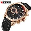Curren mens relojes de primeras marcas de lujo de cuarzo de hombres de negocios reloj de cuarzo ocasional masculina deporte relojes de oro reloj de los hombres relogio masculino