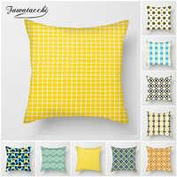 Fuwatacchi Gelb Geometrische Kissen Abdeckung Multi-farbe Herz Diamant Werfen Kissen Abdeckung für Hause Sofa Stuhl Dekorative Kissen