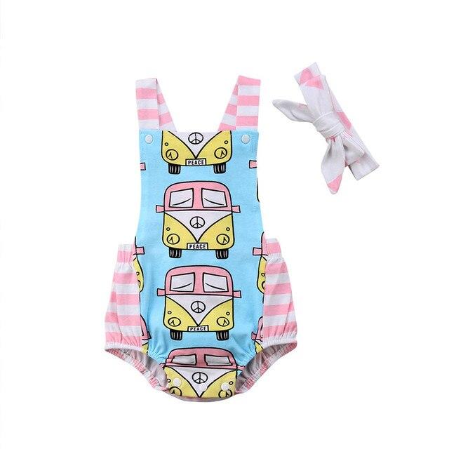 05b557437 Newborn Infant Baby Girl Bodysuit Summer Backless Girls Clothing Bus ...