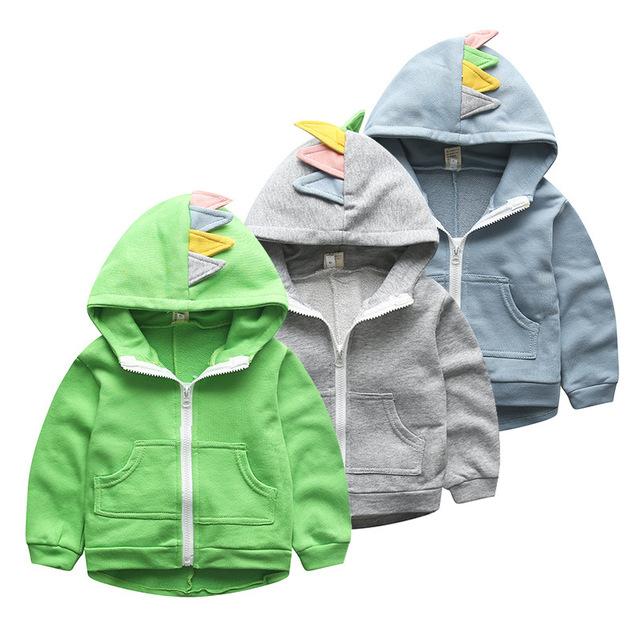2016 Nuevos Niños de la Marca de algodón con capucha bebé de la capa niños prendas de abrigo de invierno chaqueta caliente al por menor de dibujos animados para niños ropa niños hoodies