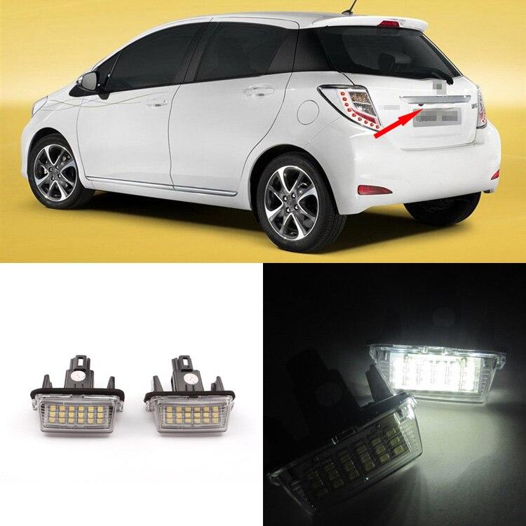 Ingyenes szállítás 2 x LED-es rendszámtábla-világítású - Autó világítás