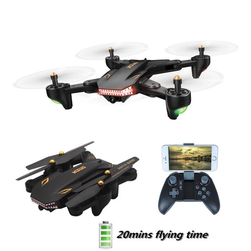 VISUO XS809S RC Drone con HD FPV WIFI Cámara 20 min tiempo de vuelo modo alto brazo plegable Quadcopter RTF helicóptero VS E58 X12
