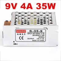 5 PCS 9V 4A 35W Switching Power Supply Driver for LED Strip AC 100-240V Input to DC 9V