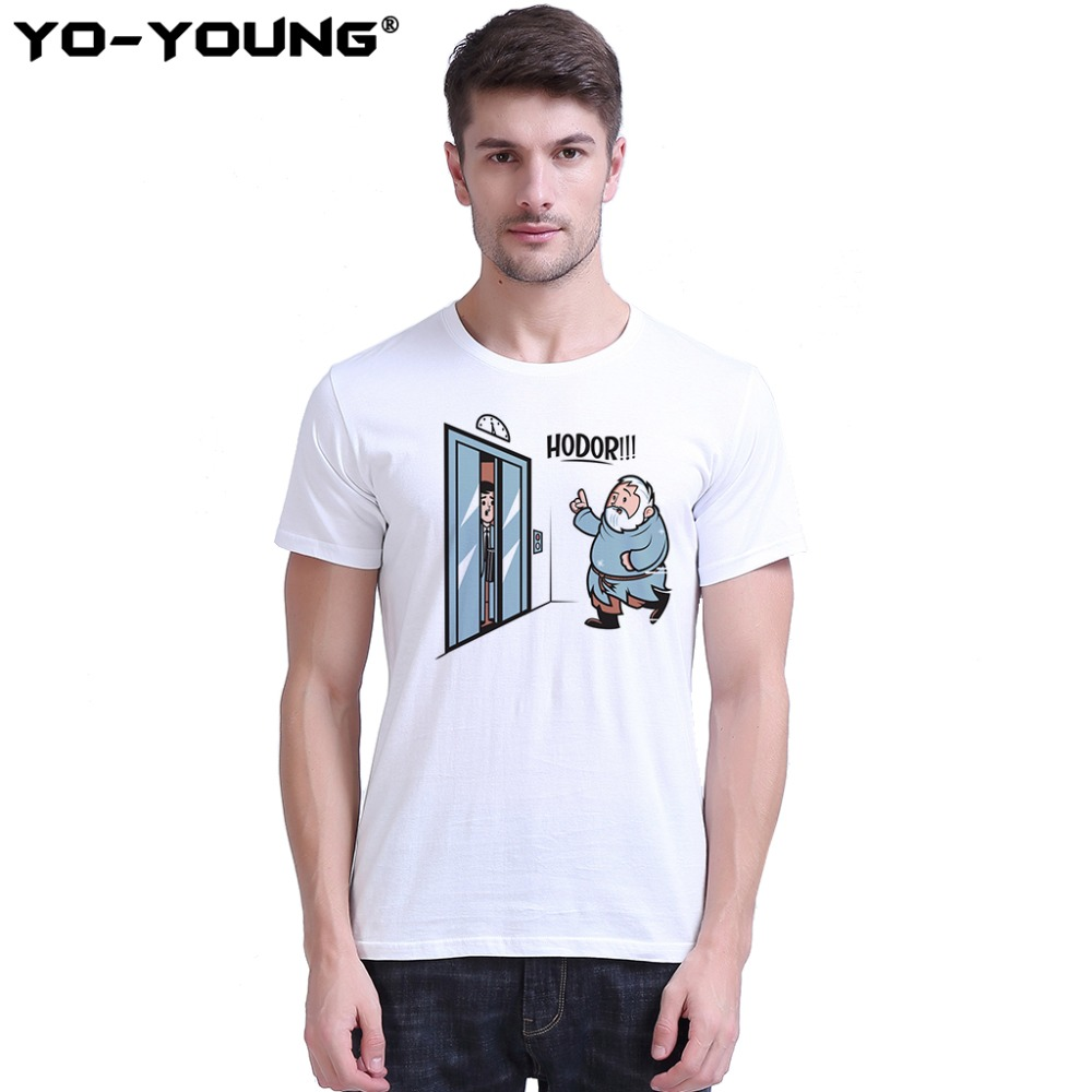 Game Of Thrones Hodor Jon Snow Men   T     Shirts   Funny Design   T  -  shirts   For Men Digital Printed 100% 180g Combed Cotton Customized