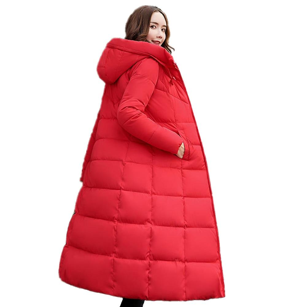 Winter Women   Down   Jacktet Female   Coat   Thick Warm Long Section   Down     Coat   Female Outerwear Fashion Hooded Winter Women   Down   Jacket