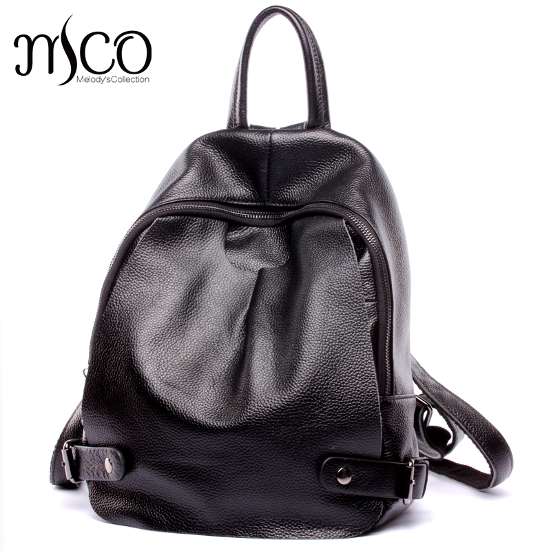 цена на Women Backpack Bag Real Leather Backpacks for teenage girls school bags Fashion Travel backpack youth Rucksack Mochila Feminina