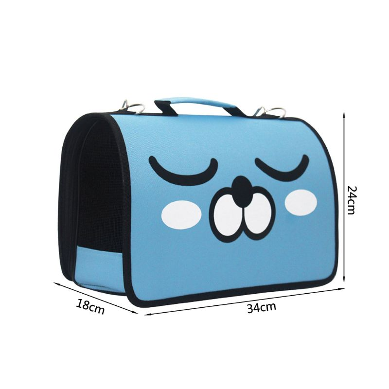 Cartoon Pet Carrier Shoulder Bag Handbag Breathable Dog Cat Fodable Carrier Bag in Clutches from Luggage Bags