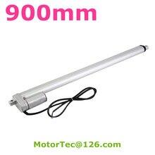900 мм ход 1500N 150 кг грузоподъемность высокая скорость 12 В 24 В постоянного электрического линейный привод, мини-линейный привод, линейный привод