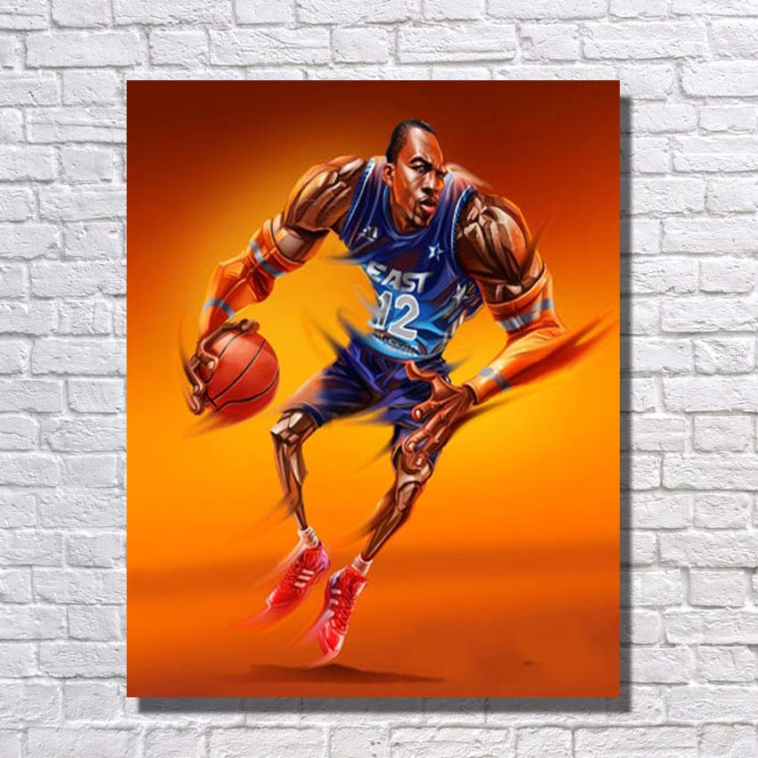 Artist Painted Abstract Basketball Player Pop Art Painting Large