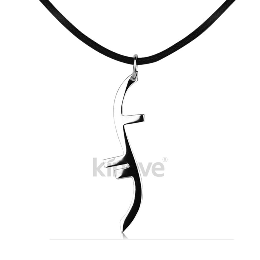 Unique 925 Silver Heroes Necklace Helix Symbol Necklace Pendants 2 Chains Option for School Student Classmate Friends Gift