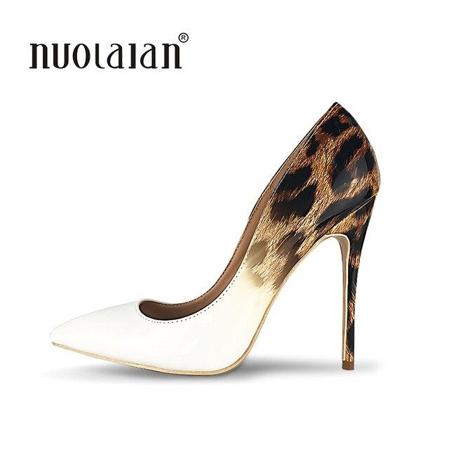 Vente Noir Haute Talons Pompes Chaussures Femmes Mode Rivets Parti Chaussures à Talons grande taille 42 LkgtTeEE1
